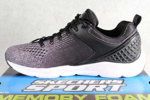 Skechers Nichlas Schnürschuhe Sneakers Halbschuhe schwarz grau 52846 NEU!