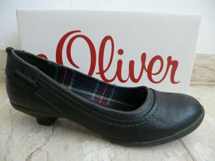 S.Oliver Damen Pumps Ballerina Slipper schwarz 22300 NEU!