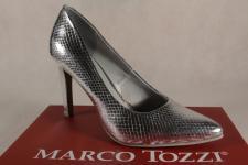 Marco Tozzi 22415 Pumps Slipper silber weiche Innensohle NEU!