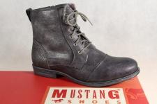 Mustang Stiefel Stiefeletten Schnürstiefel Boots grau/ stein 1157 NEU!