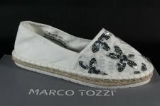 Marco Tozzi Damen Ballerina Slipper Espadrilles weiß 24217 NEU!
