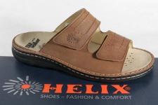 Helix Pantolette, Pantoletten Clogs braun Leder für Einlagen geeignet NEU!