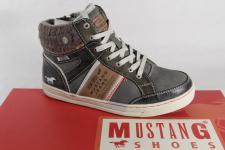 Mustang Jungen Stiefel Stiefeletten Boots Winterstiefel grau 5033 NEU
