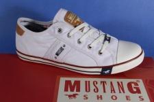 Mustang Schnürschuhe Sneaker Sportschuhe Halbschuhe weiß 1099 NEU