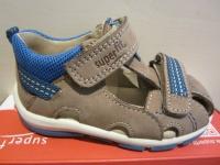 Superfit Lauflern-Stiefel Schuh Sandale braun/blau KVLederfußbett Neu !!!