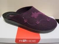 Rohde Damen Pantoffel, Softfilz, violett Fußbett NEU!!
