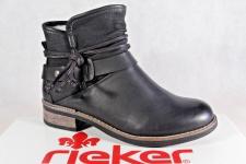 Rieker Damen Stiefel Stiefelette Boots schwarz Reißverschluß warm gefüttert NEU!