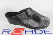 Rohde Damen Pantoffel, Softfilz, grau, 2467 NEU!!