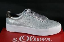 S.Oliver Damen Schnürschuhe Sneakers Halbschuhe silber 23632 NEU!