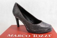 Marco Tozzi Pumps Ballerina Slipper silber weiche Innensohle 22450 NEU!