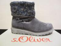 S.Oliver Stiefel Stiefelette Boots Winterstiefel grau warm gefüttert NEU