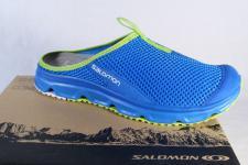 Salomon Clogs Pantoletten RX Slide blau, Lederinnenfußbett 381605 NEU