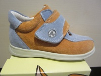 Trettal Mädchen-LL-Stiefel orange/hellblau Lederfußbett Neu !!!