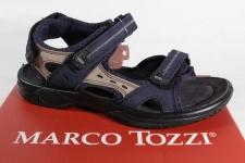 Marco Tozzi Jungen Sandalen Sandaletten Leder blau NEU!!