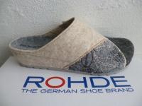 Rohde Damen Pantoffel Hausschuhe Softfilz, grau beige 6022 NEU!!