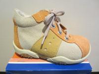 Jela LL-Stiefel orange/beige Lederfußbett Neu !!!