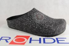 Rohde Damen Pantoffel, Softfilz, grau Fußbett 6008 NEU!!