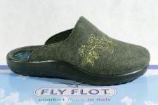 Fly Flot Damen Pantoffel Pantoletten Hausschuhe grün 863143 Neu!