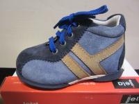 Jela LL-Stiefel blau/braun Lederfußbett Neu !!!