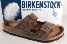 Birkenstock Herren Pantolette Pantoletten Clogs Echtleder braun 052531 NEU!