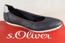 s.Oliver Ballerina Slipper Sneakers Pumps blau 22119 NEU!!