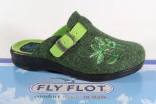 Fly Flot Damen Pantoffel Pantoletten Hausschuhe grün 863114 Neu!