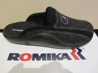 Romika Herren Pantoffel, Hausschuh, mit Wollfilz anthrazit / schwarz 71046 NEU!!