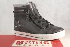 Mustang Stiefel Stiefeletten Stiefelette Schnürstiefel Boots grau 1288 NEU