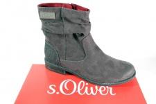 s.Oliver Stiefel, Stiefelette, Boots, grau, leicht gefüttert, Reißverschluß NEU