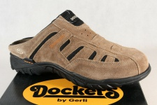 Dockers Herren Clogs Pantoletten Sabot braun/stone Echtleder 36LI005 Neu!!