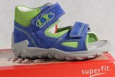 Superfit LL-Sandale blau/grün KV Lederfußbett Neu !!!