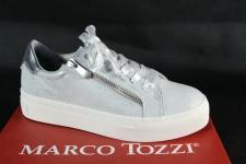 Marco Tozzi Sneakers Halbschuhe Schnürschuh Slipper grau/ quarz 23723 NEU!