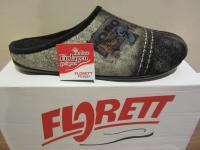 Florett Herren Pantoffel mit Samtvelour, forest 02638 NEU!!