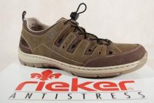 Rieker Slipper Sneakers Halbschuhe braun weiche Lederinnensohle 15256 NEU