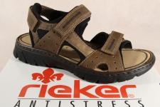Rieker Sandalen Sandaletten braun Klettverschluss 26757 NEU!!!