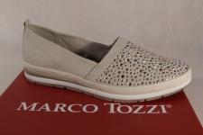 Marco Tozzi Damen Slipper Ballerina beige metalic 24202 NEU!