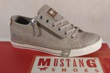 Mustang Schnürschuh Sneaker Halbschuh beige, RV Gummisohle 1146 NEU