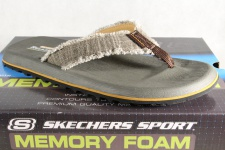 SKECHERS Relaxed Fit Tantric-Salman Zehentrenner-Sandale Pantoletten 64712 NEU!