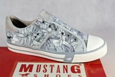 Mustang Slipper Sneakers Sportschuhe Halbschuhe hellblau/ grau Leinen 1146 NEU