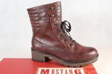Mustang Stiefel Stiefeletten Schnürstiefel Boots bordeaux 1284 NEU!