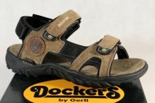 Dockers Sandale Klettverschluss, Echtleder stone/ braun 36LI015 NEU