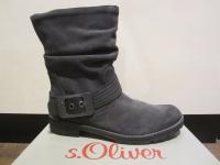 S.Oliver Stiefel, Stiefelette, Boots, dunkelgrau, leicht gefüttert NEU