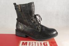 Mustang Stiefel Stiefeletten Schnürstiefel Boots grau metallic 1264 NEU!