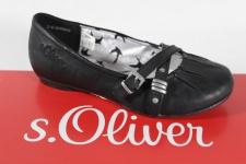 s.Oliver Ballerina schwarz, Lederinnensohle NEU!!