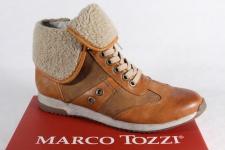 Marco Tozzi Stiefel Stiefelette Winterstiefel braun, warm gefüttert NEU!!