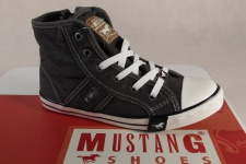 Mustang Stoff Schnürschuh Sneaker Halbschuh grau Gummisohle 5803 NEU