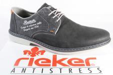 Rieker Herren Schnürschuhe Sneakers Halbschuhe grau 13033 NEU