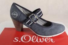 s.Oliver Pumps, Ballerina, blau, 24404 NEU!