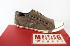 Mustang Herren Leinen Slipper Sneaker beige/ sand 4058 NEU