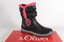 s.Oliver Tex Stiefel Stiefeletten Boots schwarz/pink 36420 NEU!